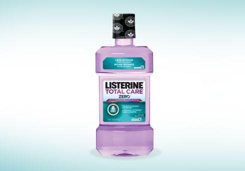 Listerine total care purple mouthwash bottle
