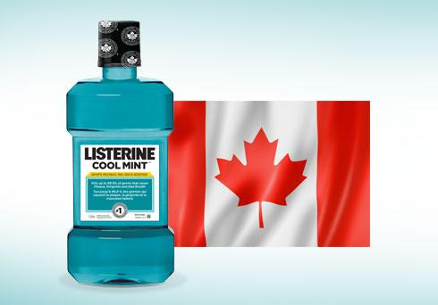 LISTERINE® COOL MINT™ with CAN flag